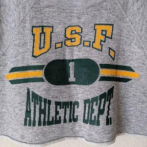 Vintage Tops - VINTAGE USF Athletic Dept. Crop Top M Casual